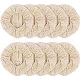 OVBBESS 10 x Baumwollkorb-Einlagen, 22,9 cm, für Brotdosen, Korb, Stoffeinlagen