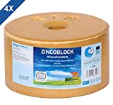 Sin Hellas ZINCOBLOCK 4er Set Mineralleckstein, 4X 3kg