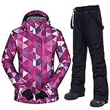 1 Winter Ski Anzug Frauen Winddicht Wasserdicht Atmungsaktiv Weibliche Schneejacke und Hose Frauen...