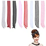 FOGAWA 8 PCS Stirnband Damen Haarband Rockabilly Draht Biegbar Bunny Ohr Twist Bow Wired...