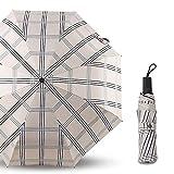 L.Z.H Folding Umbrella Winddichter Reise-Regenschirm Leichter Sun Rain Compact Regenschirm...