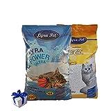 Lyra Pet ® 30 L Cats Power Ultra Excellent Katzenstreu Klumpstreu FEHLABFÜllUNG + Geschenk
