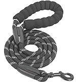 iYoShop Starke Hundeleine mit komfortablem gepolstertem Griff und hochreflektierenden Fäden,...