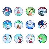 SOLUSTRE 12 Stücke Glas Kühlschrankmagnet Weihnachten Figuren Lustige Mini Magnete Schneemann...