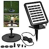 1.5W 7V Sonnenkollektor angetriebene Pumpe Vogelbad Brunnen Wasserpumpe for Garten Nacht Pond Pool...