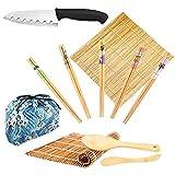 Kerykwan Bambus Sushi-Machen Kit-2 verkohlt Bambus Sushi Rollen Matte, 1 Sushi Messer, 5 Paare...