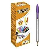 BIC 9285532 Cristal Multicolor Kugelschreiber (1,6 mm, farbig sortiert) 20 Stück