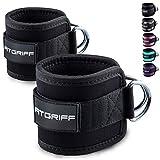Fitgriff® Fußschlaufen (gepolstert) - für Fitness Training am Kabelzug - (2 Stück) Ankle Straps...