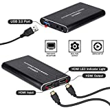 Heoolstranger Spiel Capture Karte HDMI USB3.0 1080P Tragige Tragbare Capture Karte HD Video Capture...