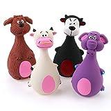Chiwava 4 STÜCK 13 cm Quietscher Latex Hund Spielzeug groß Bauch Tier Familie Welpen Interaktive...