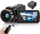 Videokamera Camcorder 1080P FHD 30FPS 36MP IR Nachtsicht YouTube Vlogging Kamera Recorder 3.0 '' 270...