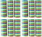 Idena 8274040 - Luftschlangen Set, 12 Rollen mit je 18 Abrisse, Dekoration, Kindergeburtstag,...