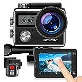Campark X20 Action Cam 4K 20MP WiFi Touchscreen Sport Kamera wasserdichte Unterwasserkamera mit Dual...