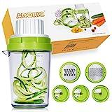 Adoric Spiralschneider NEU 5 in 1 Küchehelfer 2020 Gemüse Spiralschneider, Gemüse Reibe...