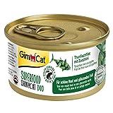 GimCat Superfood ShinyCat Duo Thunfisch mit Zucchini - Katzenfutter mit saftigem Filet ohne...