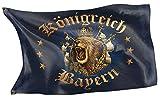 RAHMENLOS Original Design-Flagge für den Bayern Fan: Königreich Bayern