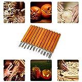 Holz Schnitzwerkzeug-Set, Kürbisschnitzwerkzeug | 12-teiliges Meißelschnitzmesser für Gummi,...