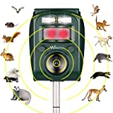 Wikomo Ultraschall Tiervertreiber Solar Tierabwehr Wasserdicht Abwehr Katzenschreck Hundeschreck...