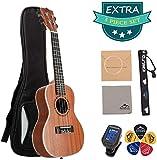 EastRock Sopran Ukulele Anfnger 21 Zoll Massivholz Ukulele Kleine hawaiianische Gitarren Ukulelen fr...
