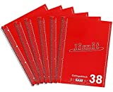 Limit Collegeblock A4, kariert, 80 Blatt, rot, 6er Pack