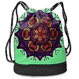 Kaleidoskop District Art Color Game Ringe Beam Drawstring Rucksack Unisex