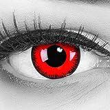 Farbige Kontaktlinsen Jahreslinsen Meralens 1 Paar rote schwarze Crazy Fun red lunatic .Topqualität...