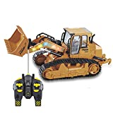 W&HH RC Bagger,Bagger Ferngesteuert,Fernbedienung Bulldozer Kinder Geschenk 2,4G RC Loader Traktor...