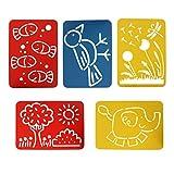 kowaku 5 Stück/Set Zeichnungsvorlage Malschablonen Lineal für Kinder DIY Craft
