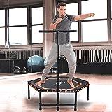 ISE SY-1105OR Fitness-Trampolin für Erwachsene, Unisex, Orange, 994810