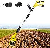 LIMEID Elektro Motorhacke Bodenhacke Kultivator mit 10cm Arbeitsbreite Ackerfräse Gartenfräse...