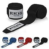 Moncada Fighting® [4m Boxbandagen mit Daumenschlaufe - Bandagen Boxen Halb elastische Boxing Gloves...