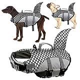 Kuoser Hundeschwimmweste, Hohe Schwimmfähigkeit Haifisch-Form Hunde-Badeanzug,...