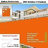 AZLAO Balkonverkleidung Innen (386 Größen 5 Farben) Balkonbespannung Wasserabweisend Windschutz...