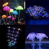 Podazz leuchtende Aquariumdeko Koralle Pflanze Ornament Leuchteffekt Silikon künstliche Dekoration...