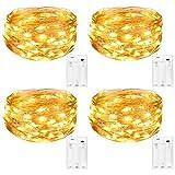 Kolpop LED Lichterkette Batterie [4 Pack], Lichterketten für Zimmer, 5m 50er Micro LED Lichterkette...
