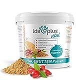 Ida Plus - Hagebuttenpulver 1 kg XXL Packung (besonders ergiebig) – in Arzneimittelqualität –...
