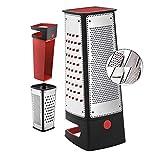 Silit Vierkantreibe mit Auffangbehälter, 29,5 x 11 x 11 cm, 4 Reibeflächen, Edelstahl, Kunststoff,...