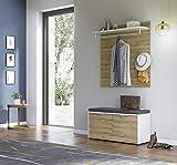 ambiato 3-TLG. Garderobenprogramm Möbel-Set 3 Lenz, Weiß/Grandson-Eiche-Nb,