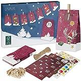 Adventskalender zum Befüllen: Schöner Adventskalender zum Selbstbefüllen mit 24 dekorativen...