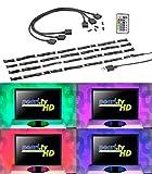 Lunartec LED Lichtleiste USB: TV-Hintergrundbeleuchtung mit 4 RGB-Leisten für 61-111 cm, USB (LED...