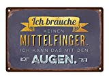 Grafik Werkstatt Wand-Schild   Vintage-Art  Ich Brauche keinen Mittelfinger. Ich kann das mit den...