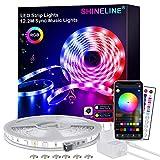 LED Strip 12.2M,SHINELINE LED Streifen mit APP Steuerung und Fernbedienung,RGB 5050 LED Lichter Sync...