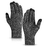 TRENDOUX Laufhandschuhe Herren, Handschuhe Damen Touchscreen - Winter Thermo Thin Material -...