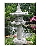 Yukimi auf Sule Hk japanische Steinlaterne Laterne