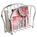 mDesign Zeitungsständer zum Aufstellen – eleganter Zeitschriftensammler aus Metall (BHT: 35,5 x...