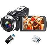 Videokamera 1080P 30FPS Camcorder Full HD IR Nachtsicht Tragbare Vlogging-Kamera...