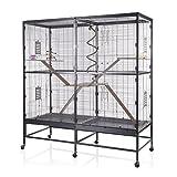 Montana Cages | Nagerkäfig Sevilla 150 Antik/Platinum mit Holzkit von Montana Cages