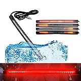 Qiorange LED Rücklicht Streifen 48LED Strip Licht Wasserdicht Lichtleiste Hecktür Tagfahrlicht...