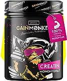 Original GAINMONKEY Creatin Monohydrat Pulver - Vegan und ohne Zusätze I 500g reines Creatine...