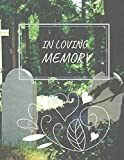 In Loving Memory: Guest Book for Funeral and Memorial Services in Purple Floral, Condolence Book,...